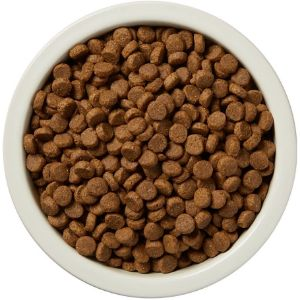 Top view of Wag Dry Dog Food in a bowl